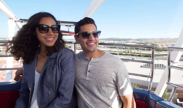Couple on Giant Wheel at Irvine Spectrum
