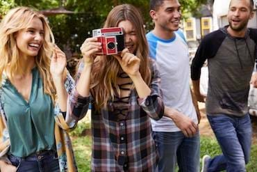 Buckle models having fun and taking photos