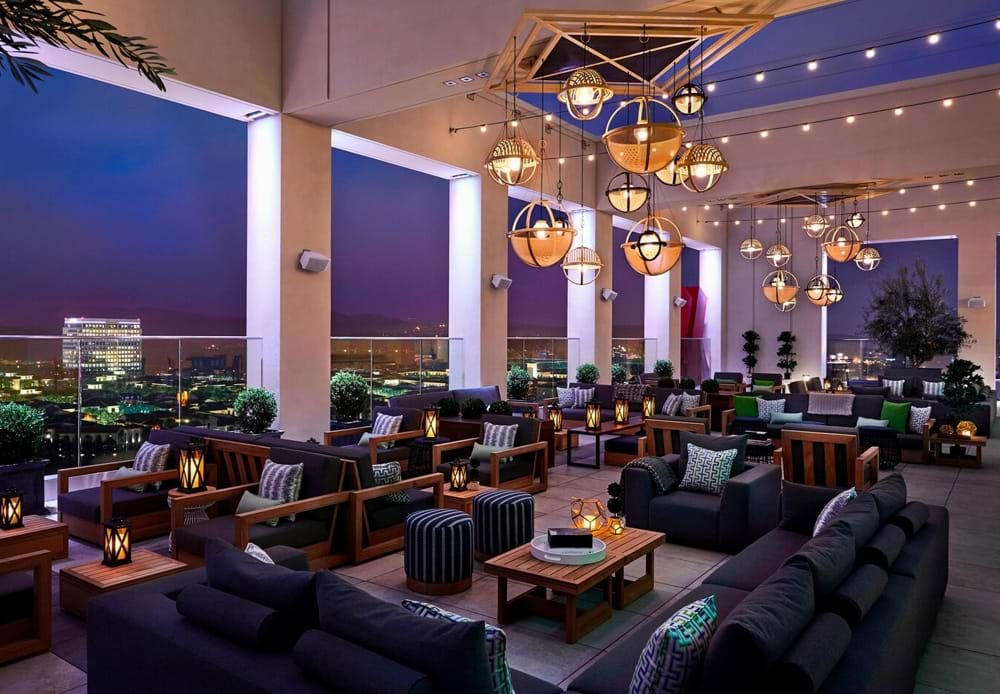 Hive & Honey Rooftop Bar at Marriott Irvine Spectrum