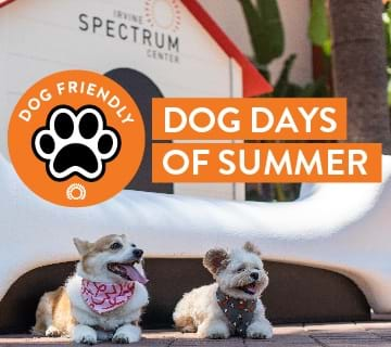 Irvine Spectrum Center is dog-friendly