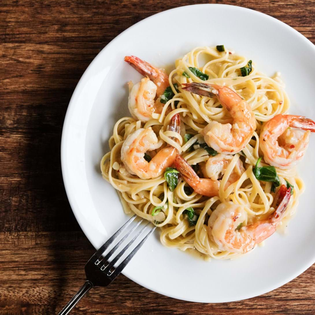 Shrimp Linguine from Paul American's American Grill